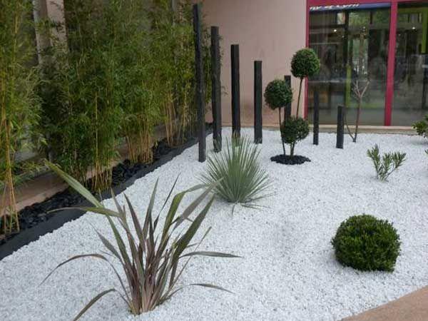 Comment am nager un jardin zen gravier blanc espace for Amenagement jardin gravillon
