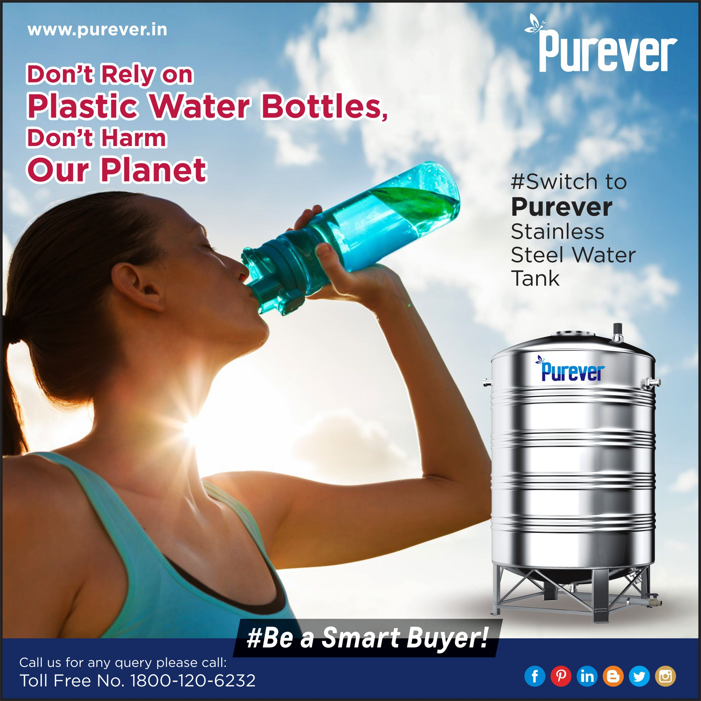 Drinking Water Or Storing Them In Plastic Bottles Affects The Body Health As Also Pollutes The Environment 1800 120 6 Steel Water Tanks Water Tank Steel Water