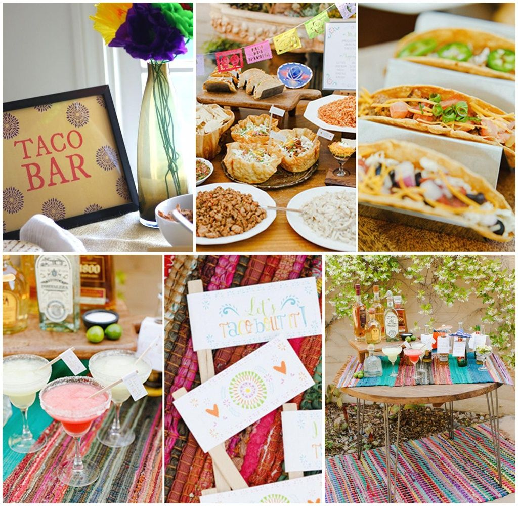 Taco Dinner Party Ideas Part - 23: Taco Bar Dinner Party Ideas Build Your Own Taco Bar Party Making A Taco Bar  For