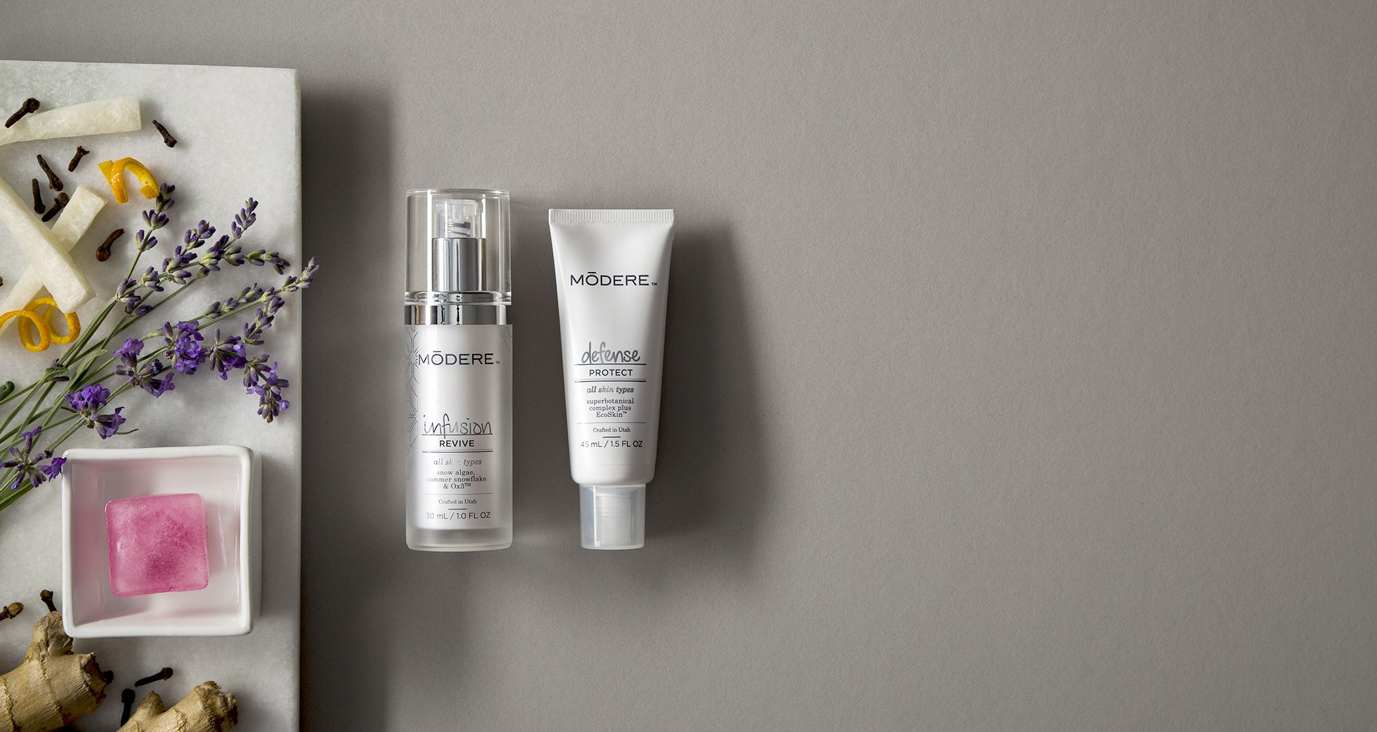 The MODERE I/D system brings an exclusive combination of botanical infusion and environmental skin defense, and it's available only from Modere, the leader in naturally-derived, safe, and effective formulas for almost 30 years!