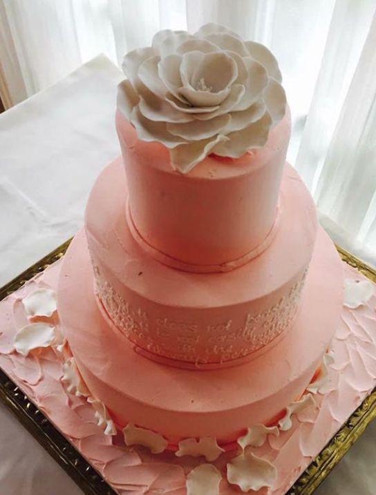 Wedding cake idea; Featured Cake: Palermo's Baker