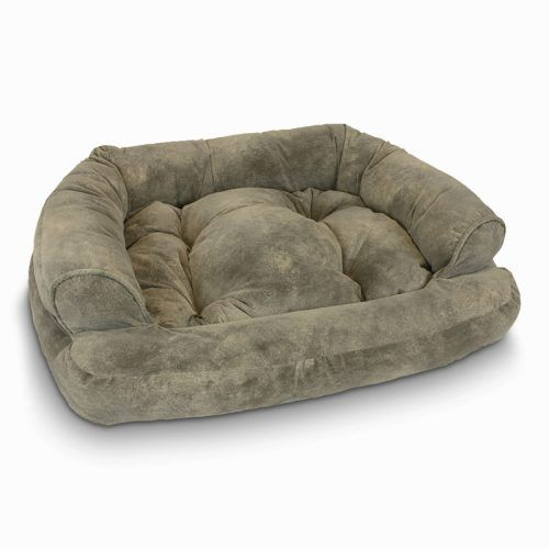 overstuffed luxury pet sofa - large - chaparral - dog beds