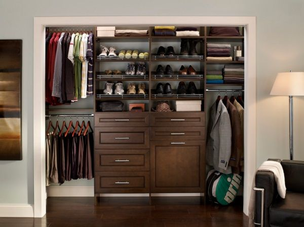 Tidy men\u0027s closet & Tidy men\u0027s closet   Closet rooms Shoe rack and Storage boxes