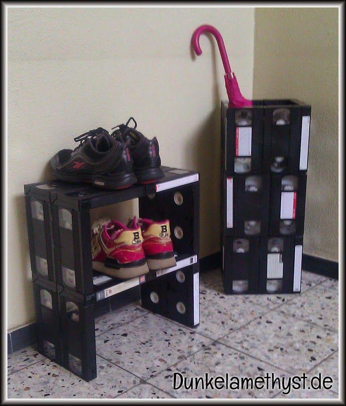 video tape furniture vhs m bel upcycling upcyclingoctober2014 pinterest upcycling. Black Bedroom Furniture Sets. Home Design Ideas