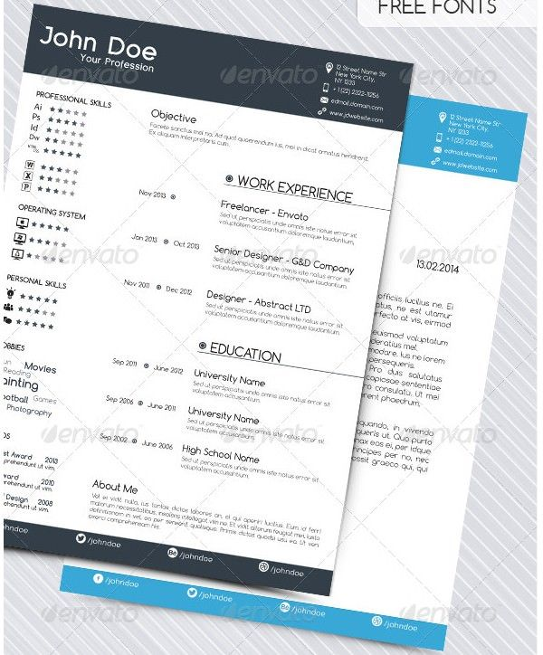 Resume with Cover Letter , Mac Resume Template u2013 Great for More - resume document format