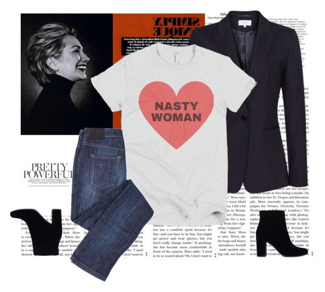 """""""Future"""" by fabulousfashions1234 ❤ liked on Polyvore featuring Balmain and Yves Saint Laurent"""
