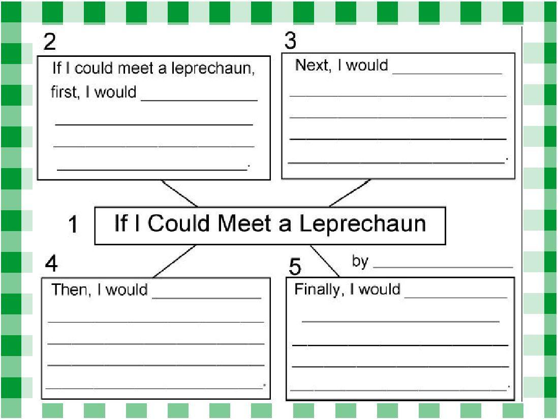 Uncategorized St Patrick Day Leprechaun Story st patricks day story starter starters classroom freebies starter