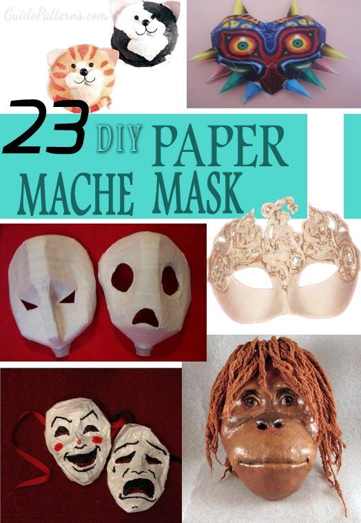 23 Diy Paper Mache Mask Ideas Really Awesome Tutorials Paper