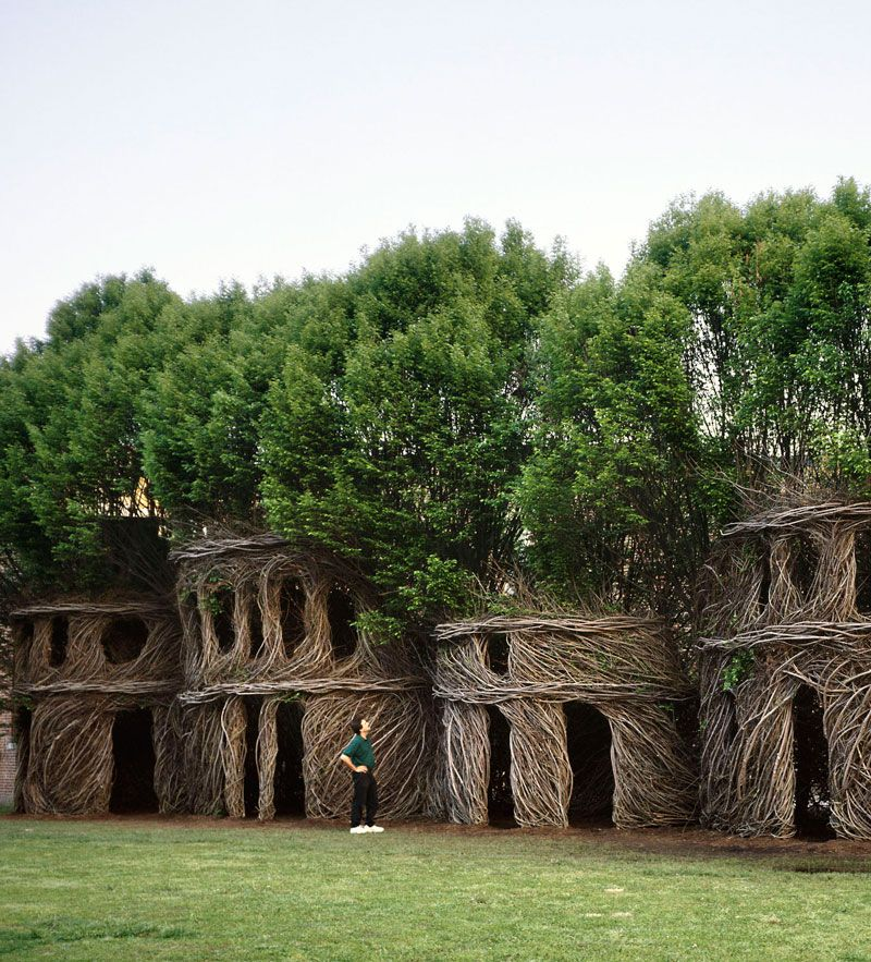 NC artist Patrick Dougherty has created this monumental sculpture in Connecticut.