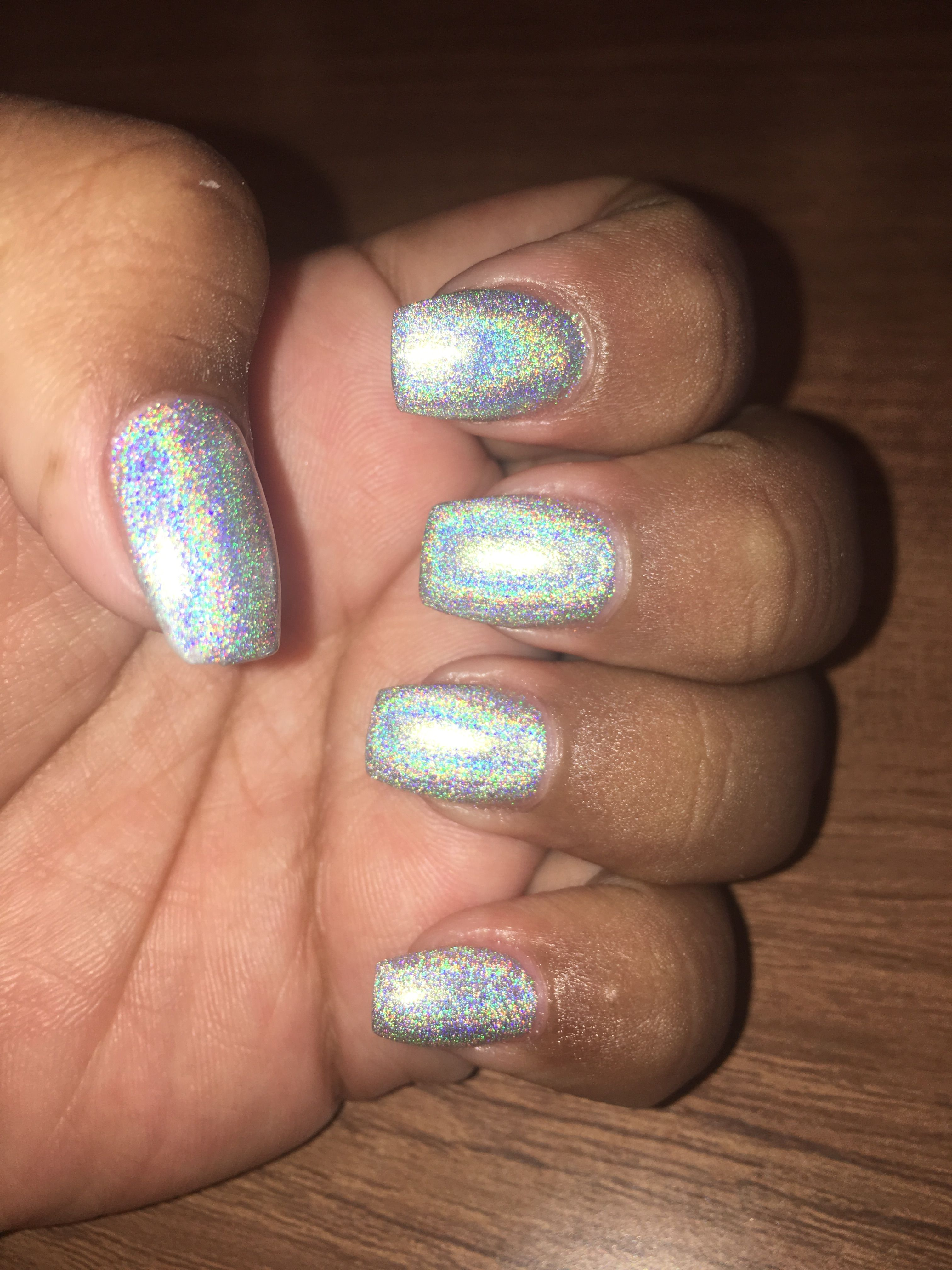 Pin By Deanna Pavlov On Tattoos: Holographic Nails, Nails, Beauty