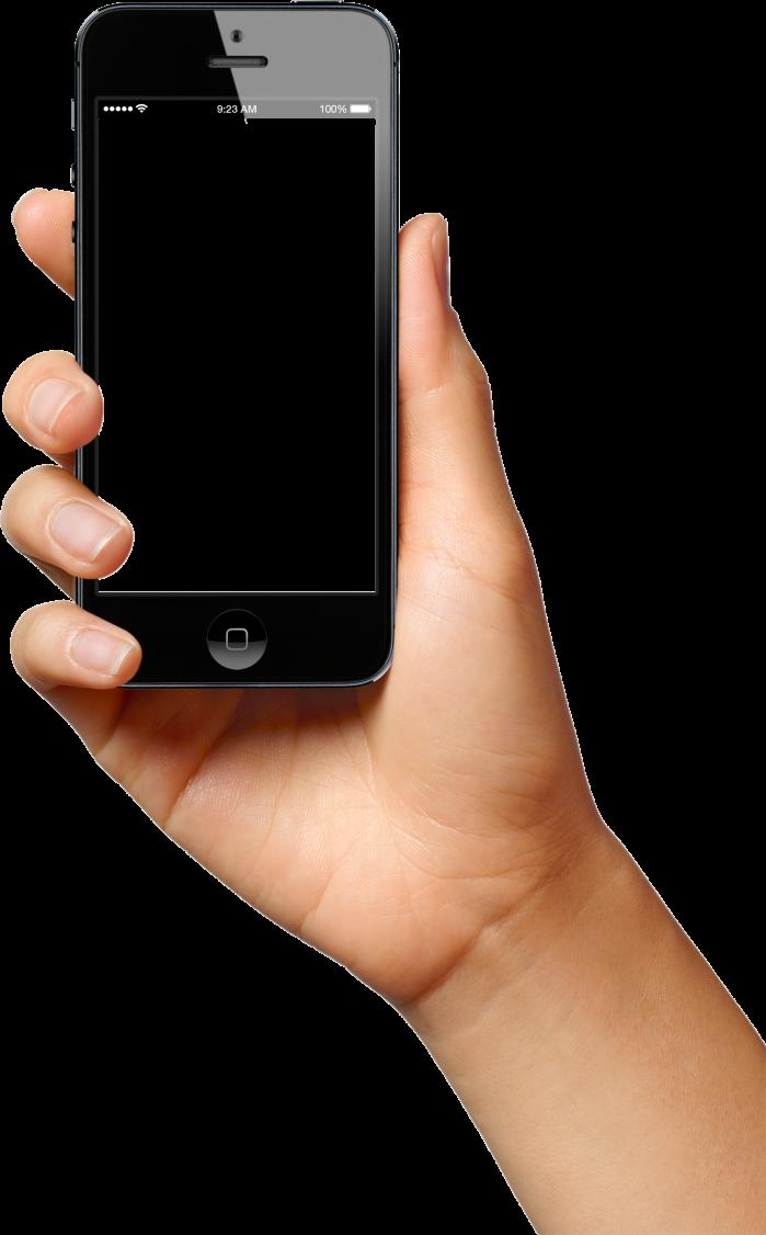 Phone In Hand PNG Image Celular, Png, Mãos