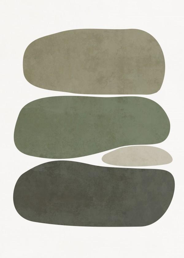 Quadro Decorativo - STONES - GREEN TONES