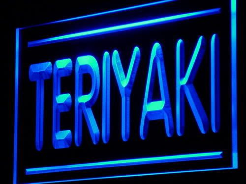 Teriyaki LED Neon Light Sign