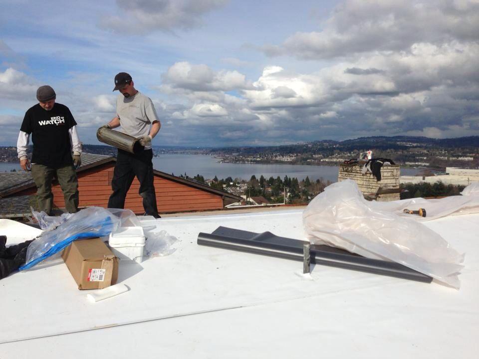 80 Mil PVC Membrane By IB Roof Systems. Renton, WA
