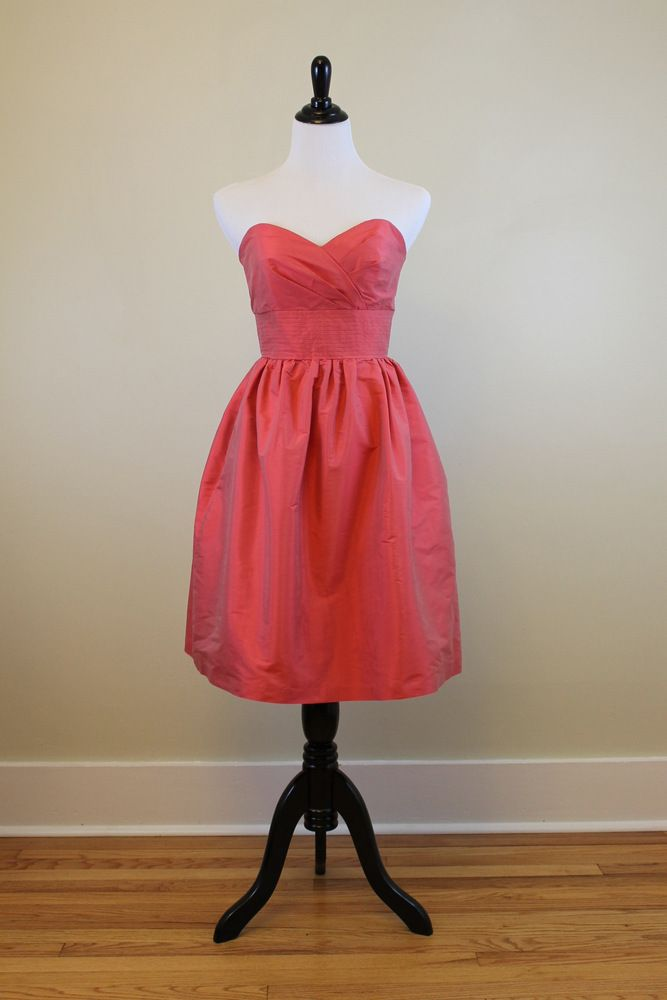 Alfred Sung Sweetheart Strapless Bridesmaid Dress (Firecracker/Coral ...