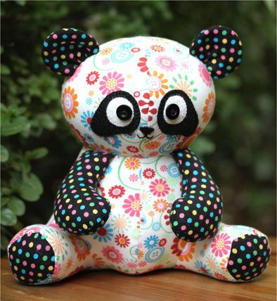 Pookie Panda Bear Pattern | Tiere nähen, Nähen und Tier