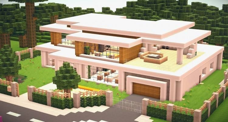 Cool House Designs For Minecraft Pe Modern Minecraft Houses Minecraft Modern Minecraft Modern Home