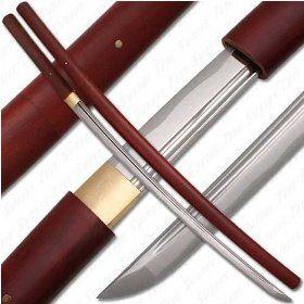 Handmade Japanese Shirasaya Samurai Katana Sword Sharp $54.48