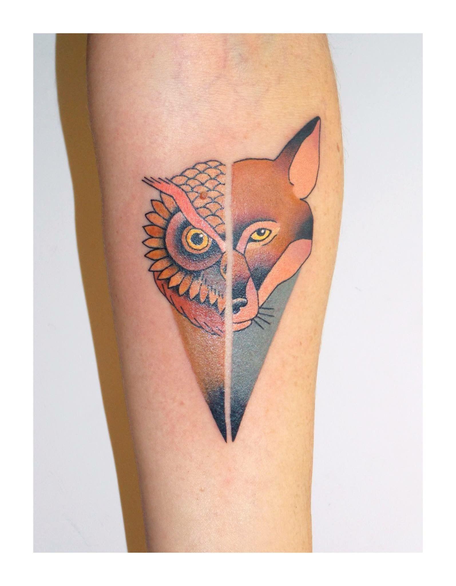 Brindi Owl And Fox Tattoo Fox Tattoo Fox Tattoo Design Tattoos