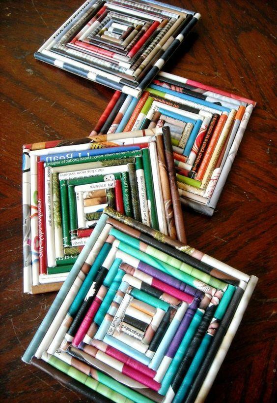 Ideias Criativas Para Reciclar O Jornal Artesanato De Revistas