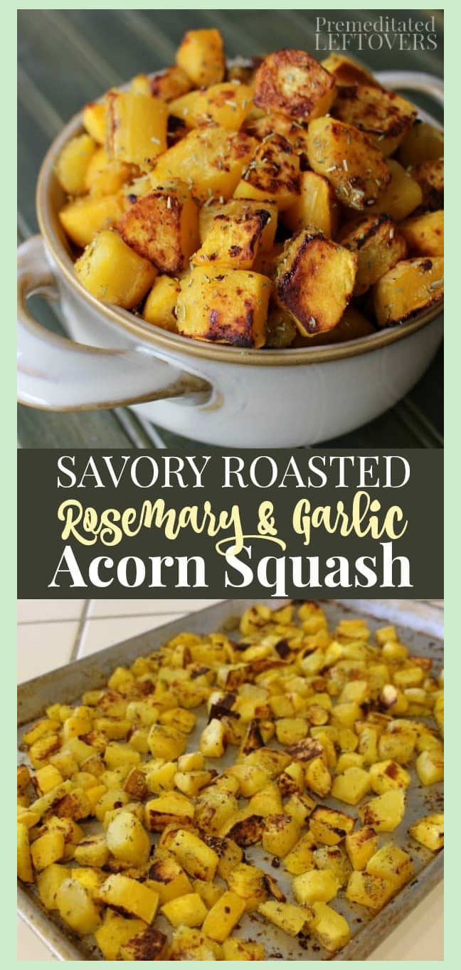 A Savory Roasted Acorn Squash Recipe Seasoned With Rosemary And
