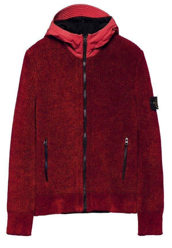 553BA REFLEX MAT Cardigan in ciniglia di cotone / lana lavorata ...