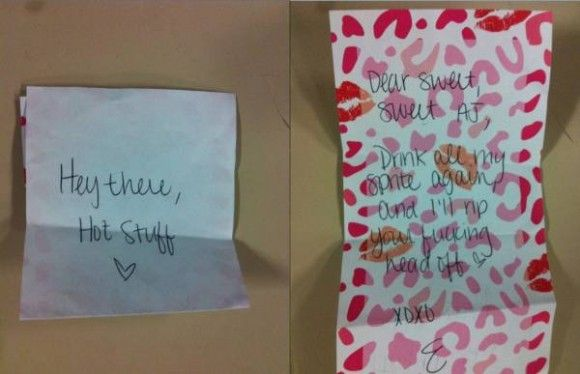 Note my girlfriend left me in the morning before work… What a sweet sweet girlfriend. - Your Fun Pics