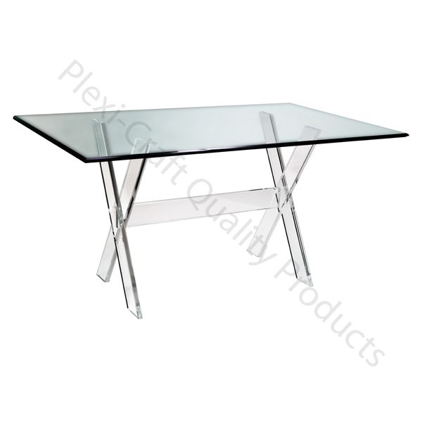 The Lucite X Trestle Base Supports Your Choice Of Tabletops Plexi - Plexi craft coffee table