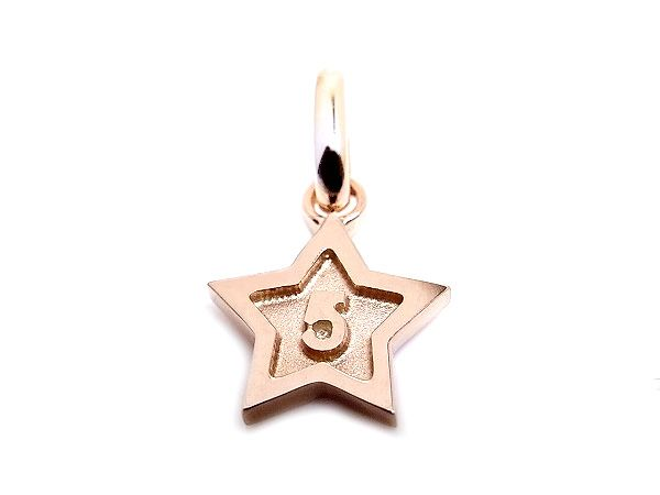 k18 rose gold number 5 pendant charms star frame ナンバー 5 数字 ピンクゴールド スター all numbers on official online shop(0-9)