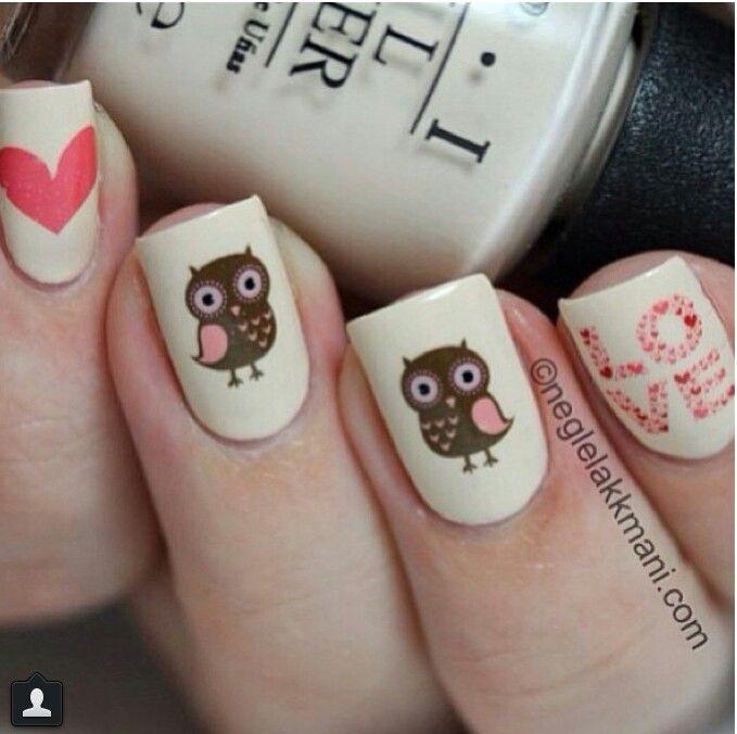 Cute owl nail art! #cutenails #curatorofcute | Cute Nails ...