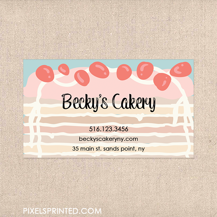 bakery business card, cute bakery care, modern vintage business ...