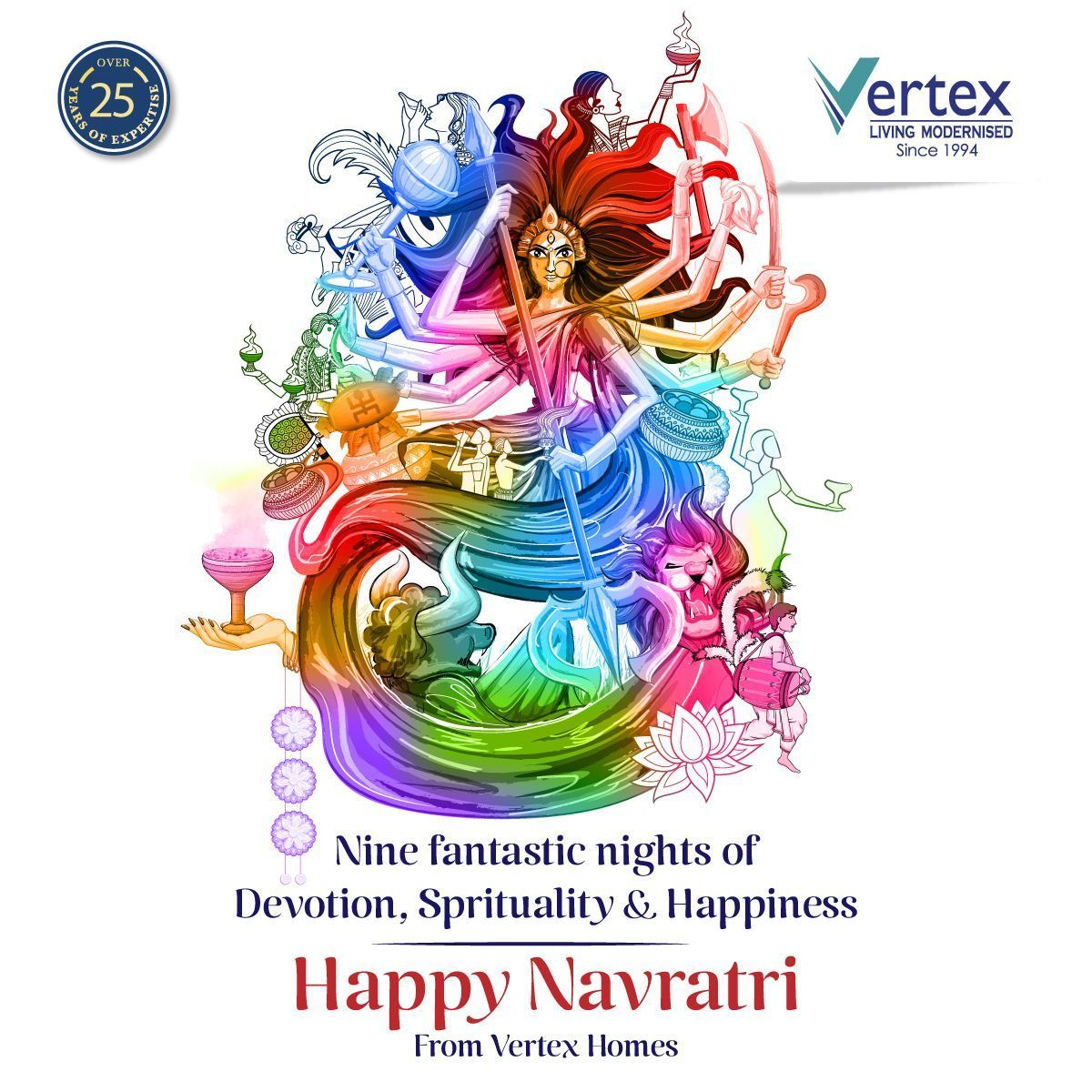 Nine fantastic nights of Devotion, Spirituality & Happiness Happy Navratri  #navratriwishes A very Happy Navratri wishes to you and your family from Vertex Homes. Stay blessed! . . . . . . . #happynavratri #happynavratri2019 #navratri #navratridays #navratrifast #navratrispecial #navratrifever #navratrilovers #navratri2019 #navratricelebrations #navratri2019celebration #openplots #realestate #flats #2and3BHKApartments #gatedcommunity #navratriwishes Nine fantastic nights of Devotion, Spiritualit #navratriwishes