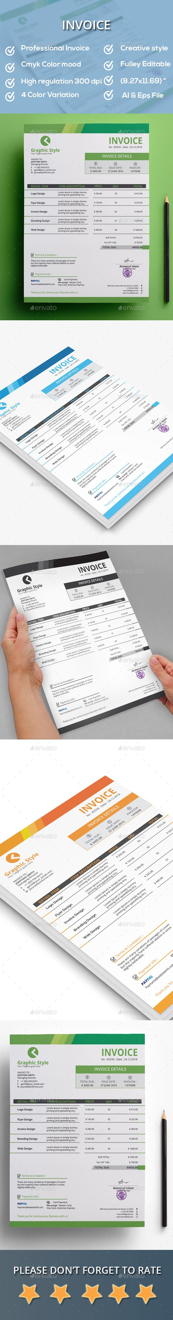 Invoice by Creativesolution Creative Features A4 size