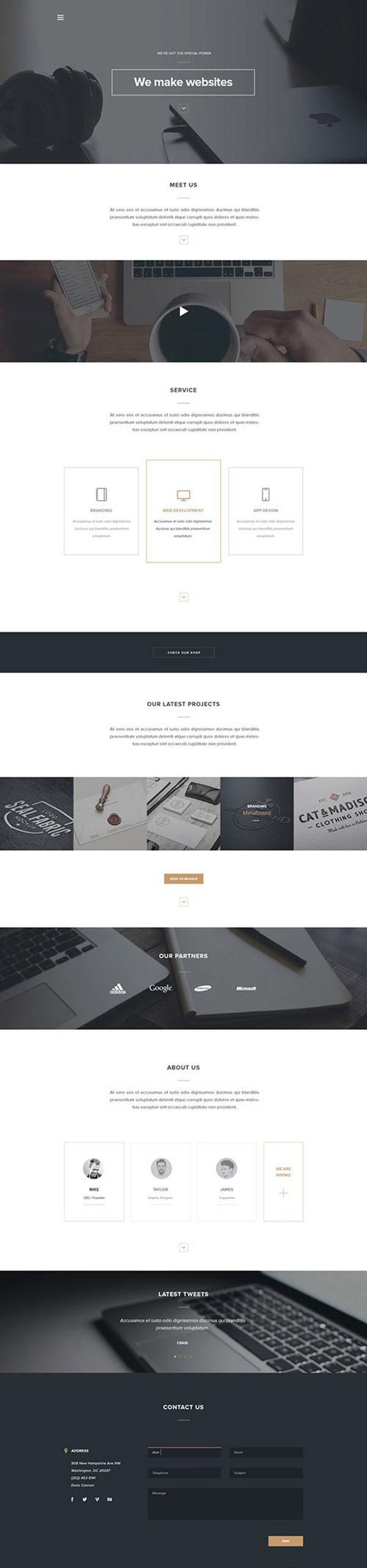 Arcadia-free-PSD-landing-page | Web design | Pinterest | Template ...