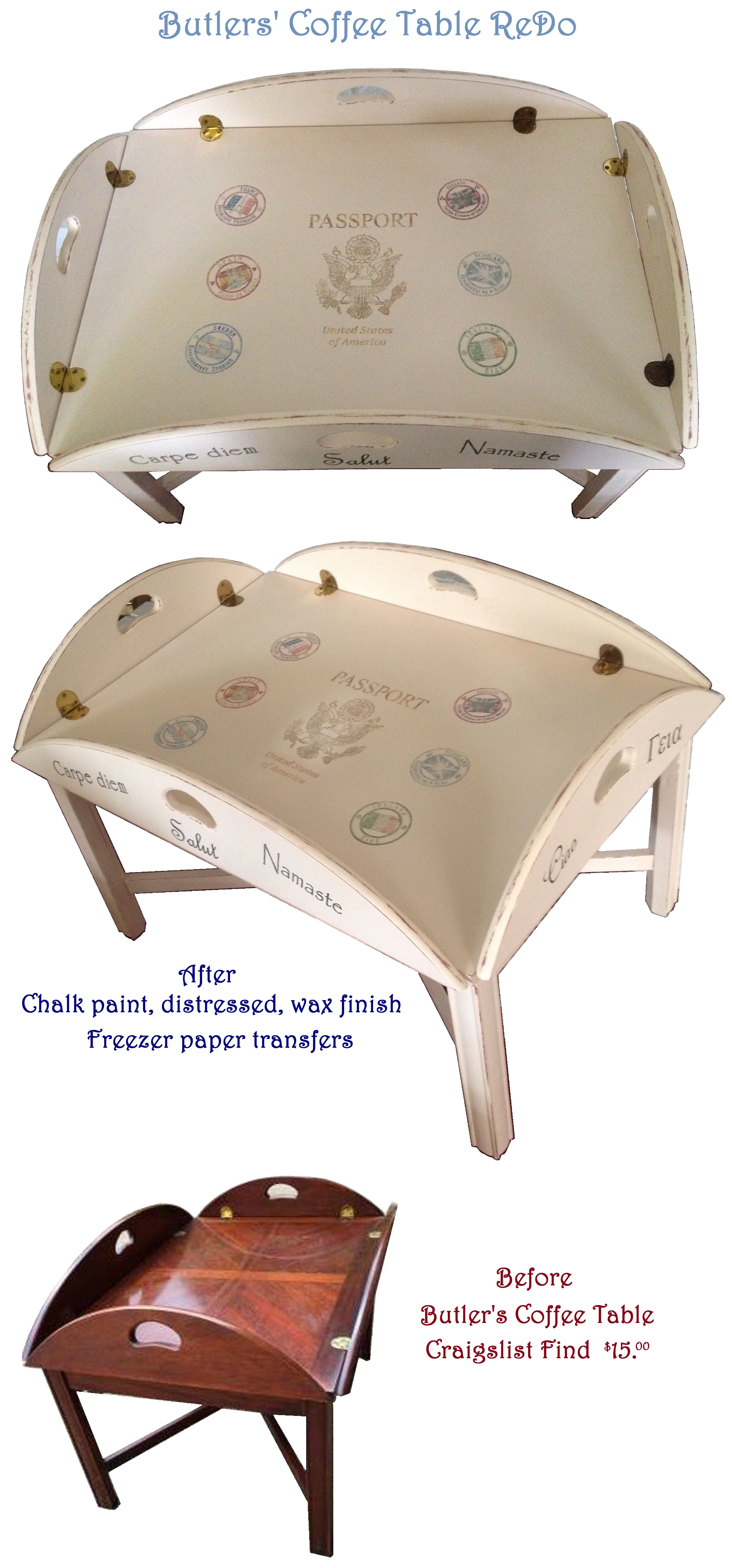 Chalk Paint Shabby Chic Butlers Coffee Table Found On