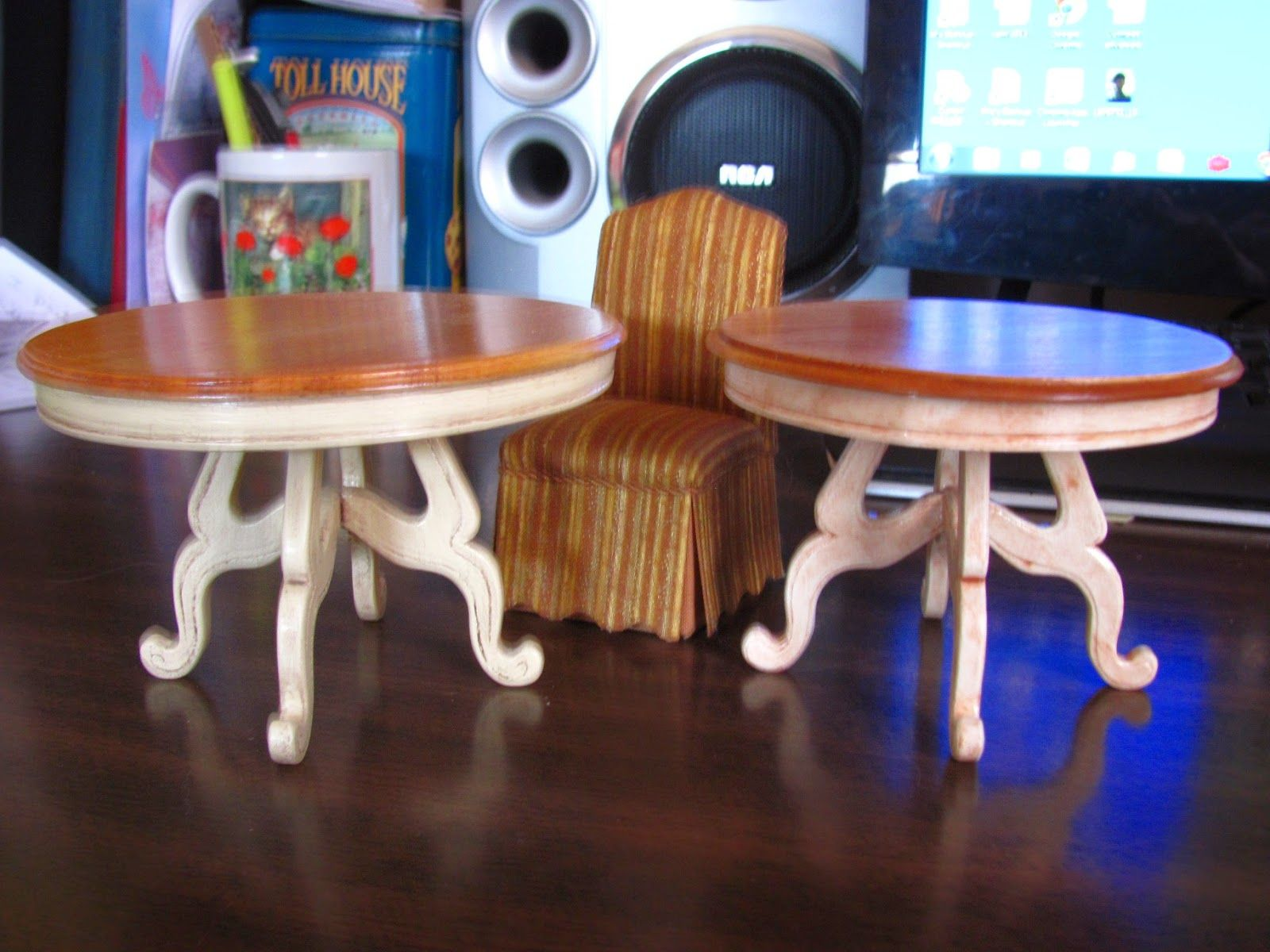 Pine Table /& Chairs Dolls House Miniature Dining Table Kitchen Room Furniture
