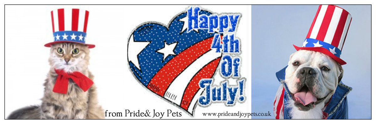 Happy 4th July from Pride and Joy Pets http://prideandjoypets.co.uk
