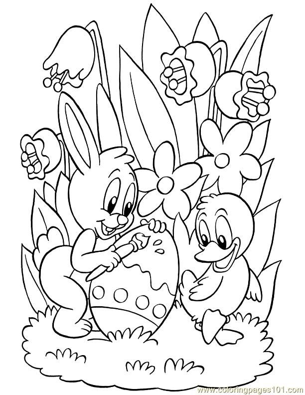 Coloring Pages 001 Easter 55 Entertainment Holidays
