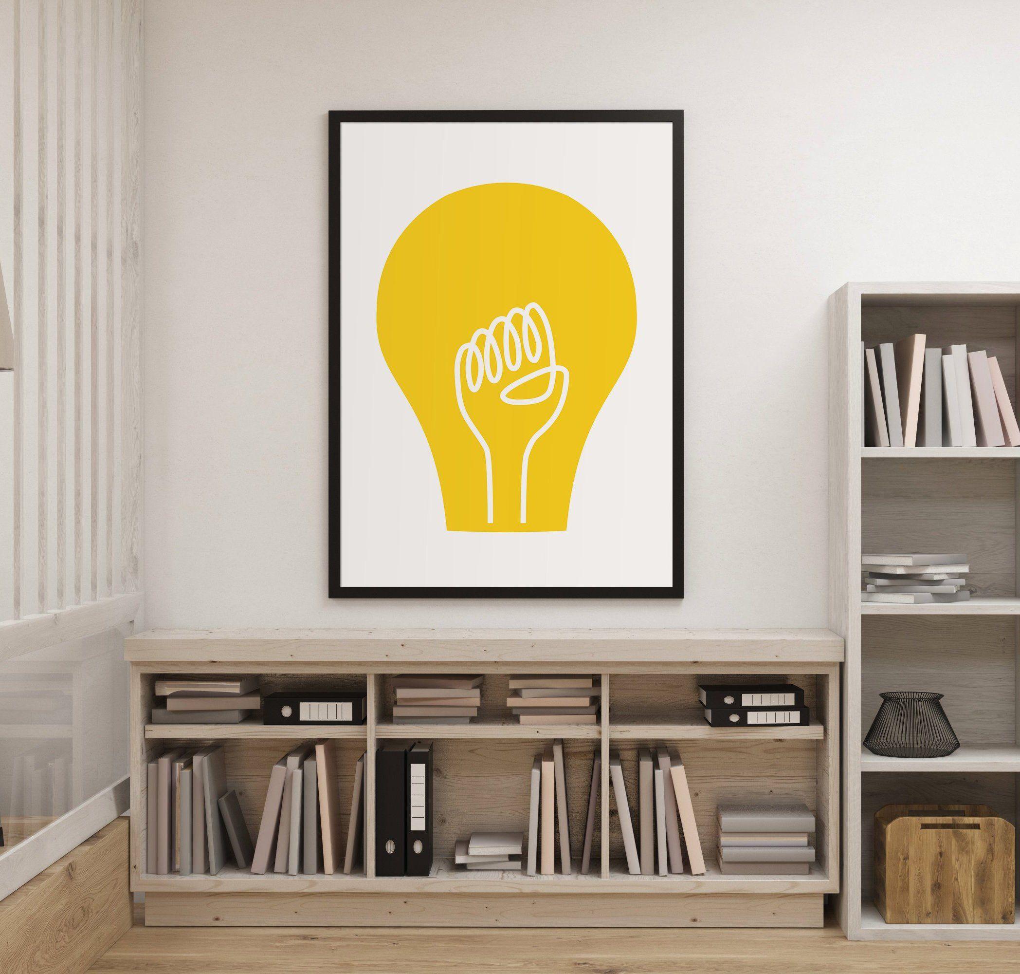 THE IDEA - cool art poster, Wall Art | Home Decor | Motivational ...