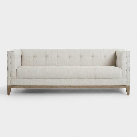 Taupe Tufted Nail Head Myles Sofa By World Market In 2019
