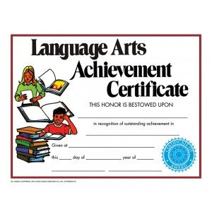 Language arts achievement certificate 30 pack downloadable language arts achievement certificate 30 pack downloadable templates available to personalize or can be handwritten yelopaper Gallery