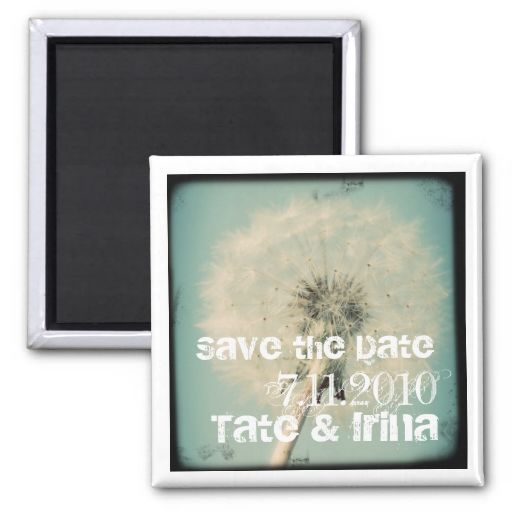 Dandelion Save the Date Magnet