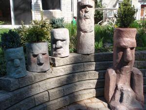 Moai Head Garden Planters
