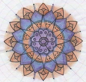 Mandala   Graph Paper And Mandala