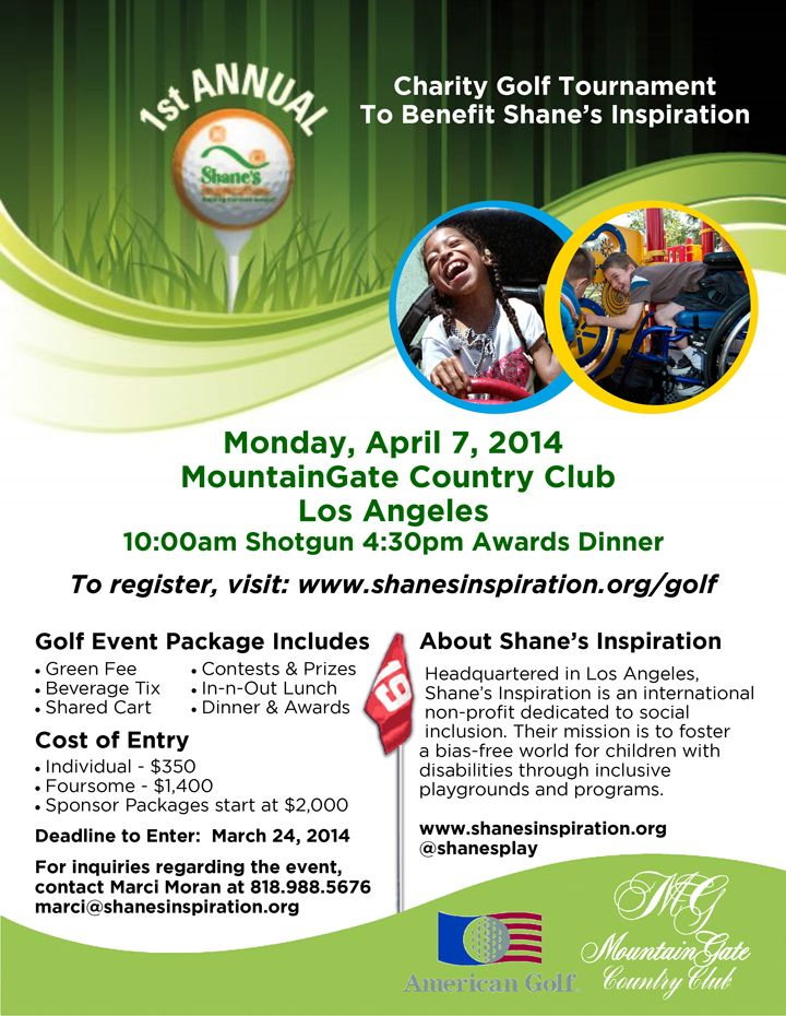 Join us for our 1st Annual Charity Golf Tournament at