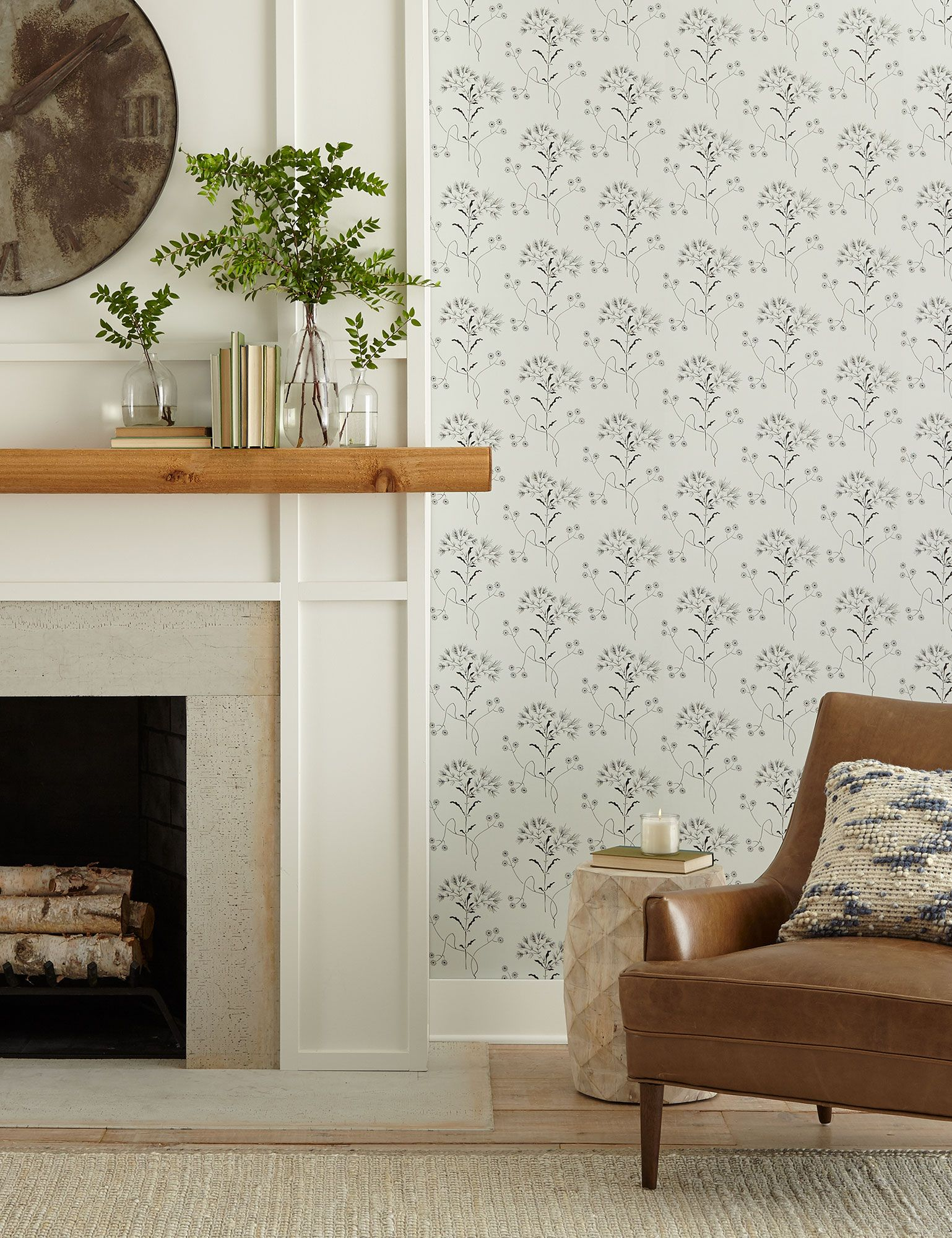 Magnolia Home Wildflower Wallpaper Wedding Band Blue Black Magnolia Homes Peel And Stick Wallpaper Wall Coverings