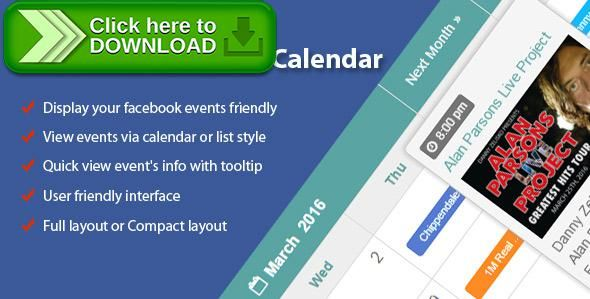 Free nulled Facebook Events Calendar download Calendar calendar - spreadsheet free download for mobile