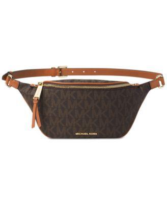 e0bf8177ffef MICHAEL Michael Kors Rhea Zip-Top Extra Small Belt Bag | macys.com ...