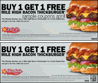 image relating to Hardee's Printable Coupons identify Hardees coupon codes april Totally free Printable Coupon codes April 2017