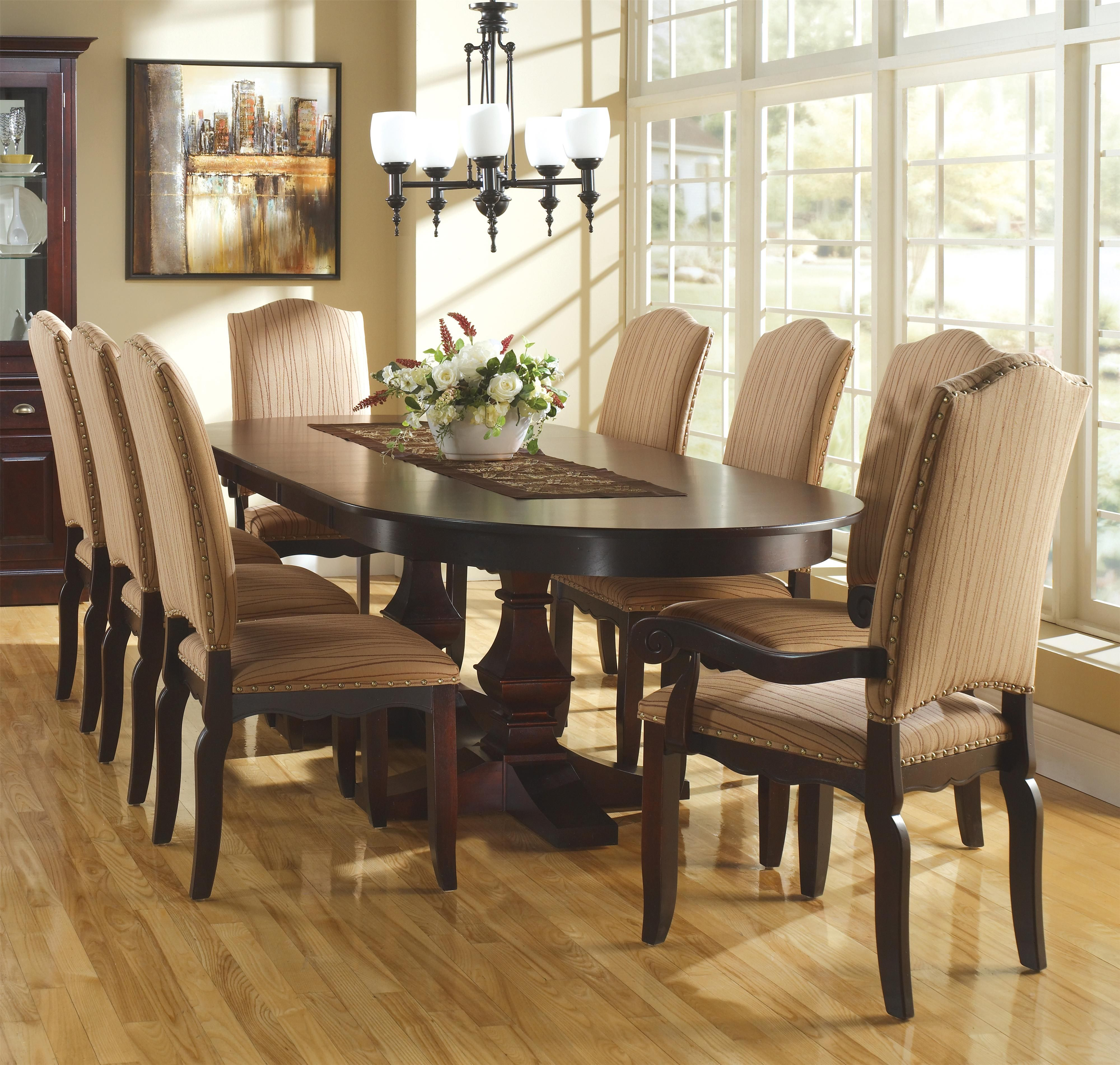 Dining Room Tables With Leaves: Custom Dining Customizable Oval Table Set W/ Leaves By Canadel